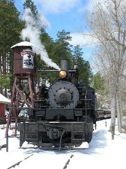 Steam Locomotive, Black Hills, Usa, United States