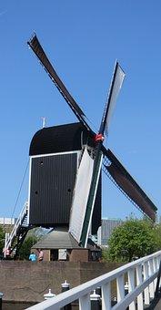 Mill, Dutch, Netherlands, Windmill, Holland, Leiden