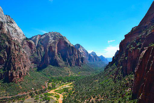 Zion National Park, Adventure, Hiking, Perspective