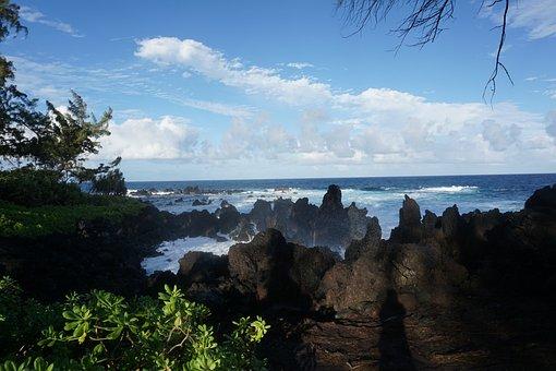 Rocks, Lava, Beach, Landscape, Geology, Heat, Stone
