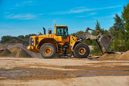 Kieswerk, Excavators, Blade, Pile, Open Pit Mining