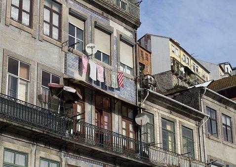 Portugal, Porto, Bridge, Building, Street Scene, House