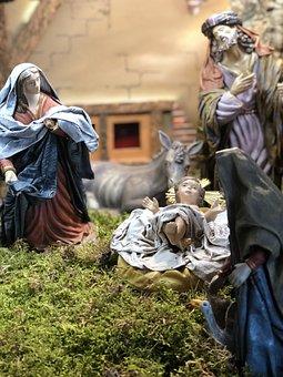 Christmas, Portal Of Bethlehem, Jesus Joseph Mary