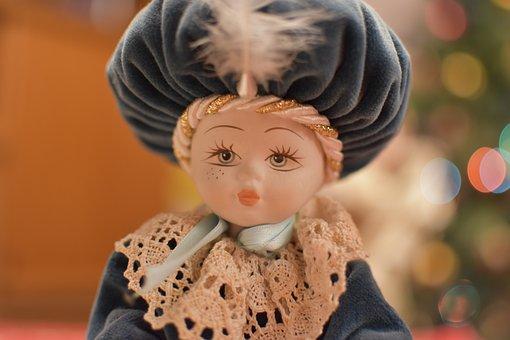 Doll, Decoration, Figure, Christmas, Fantasia, Face