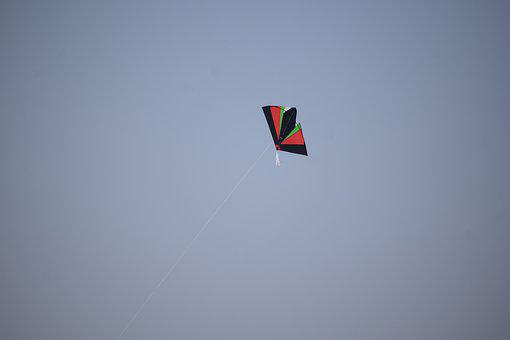 Kite, Sky, Freedom, Flying, Fun, Wind, Blue, Child, Air
