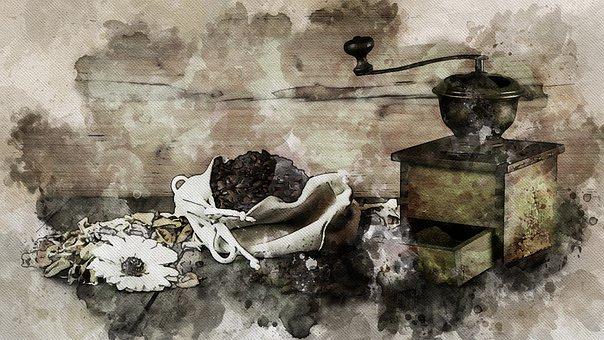 Coffee, Grinder, Grain Coffee, Still Life, Grain
