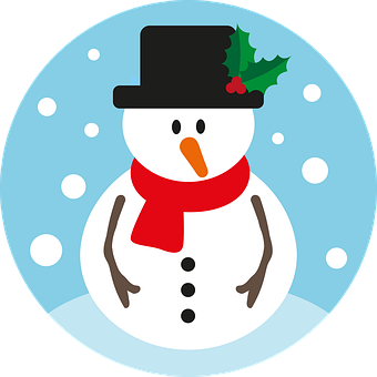 Snowman, Christmas, Winter, Snow, Cold, Scarf, Happy