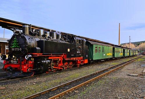 Steam Locomotive, Nostalgia, Railway, Historically