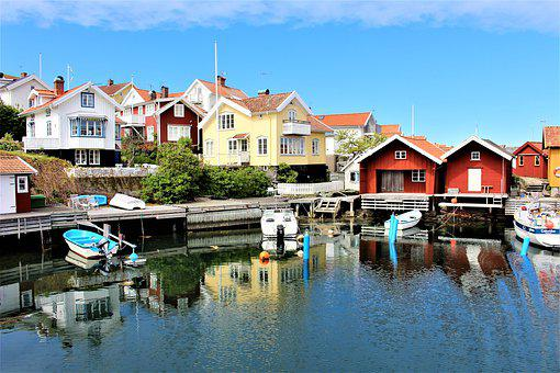 House, Cabins, Sea, Coastal, Water, Landscapes