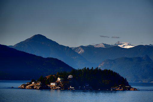 Landscape, Mountains, Island, Hill, Ocean, Alaska