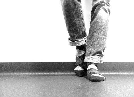 Legs, Jeans, Black And White, Wall