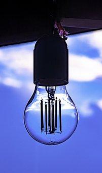 Bulb, Lamp, Light, Electricity, Lighting, Sky, Window