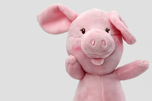 Pig, Lucky Pig, Piglet, Luck, Stuffed Animal, Pink