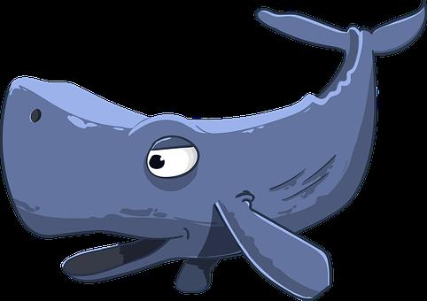 Sperm Whale, Kit, Floaters, Cartoon, Giant, Sea, Mammal