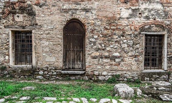 Door, Windows, Wall, Building, Medieval, Church