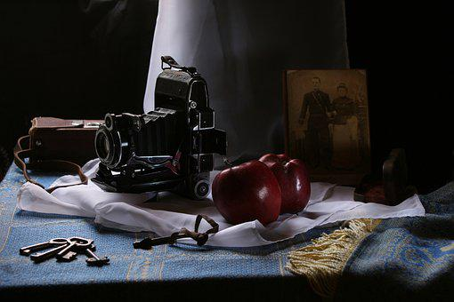 Still Life With Camera, Old, Memory, Photo, History