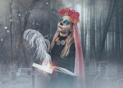 Catrina, Sugar Skull, Mexico, Day Of The Dead, Gothic