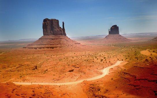 Canyon, Nevada, Desert, Monument, Valley, Usa, Hot