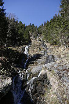 Water, Mountain Stream, Bach, Waterfall, Torrent