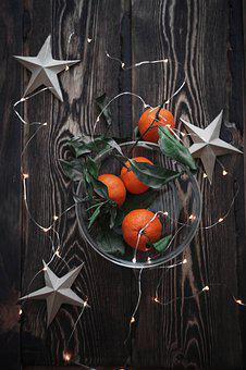 Citrus, Fruit, Festive, Christmas, Mandarin, New Year