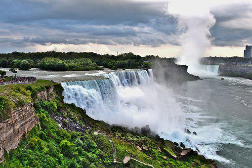 Sea, Waterfall, New York, Canada, Niagara Falls, Nature