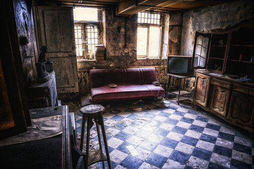 Living Room, Space, Lost Places, Nostalgia, Old