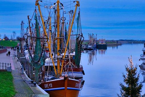 Greetsiel, Port, East Frisia, Fishing Vessel, Ship