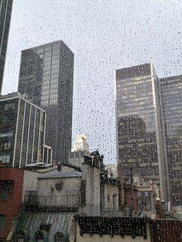 New York City, Manhattan, Rain On The Window, Usa