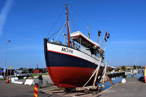 Limhamn, Sweden, Fishing Boat, Repairs, Boat, Posted