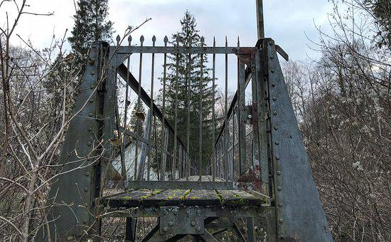 Bridge, Lost Place, Steel, Old, Rust, Rusty, Rivet