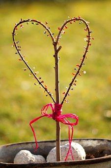 Heart, Tinker, Beads, Love, Romantic, Hand Labor