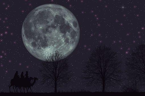 Magi, Night, Star, Scene, Three Wise Men, Joy, Wishes