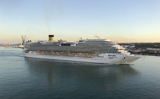 Cruise, Cruise Ship, Costa, Costa Diadema, Ship, Sea