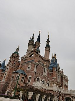 Disney, Castle, Shanghai, Travel