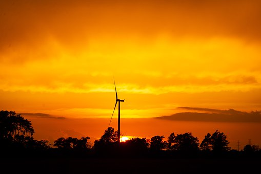 Sunset, Windmill, Chatham-kent, Ontario, Mill, Sky