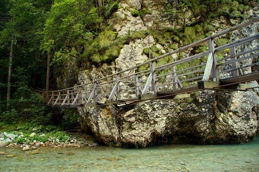 Suspension Bridge, Bridge, River, Slovenia, Broke