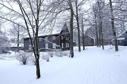 Landscape, Winter, Snow, Old Building, Listed