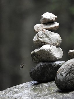 Stone, Spider, Stack, Balance, Stability