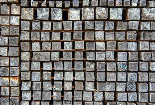 Wood, Stack, Square, Storage, Stock
