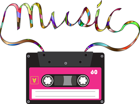 Cassette, Music, Obsolete, Song, Audio, Typography