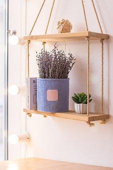 Shelf, Vase, Flower, Beautiful, Home, Bouquet
