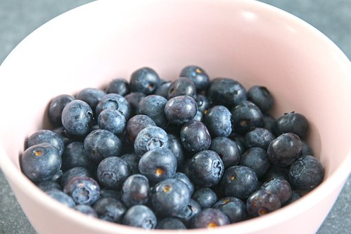 Blueberries, Bowl, Fruit, Berries, Food, Delicious