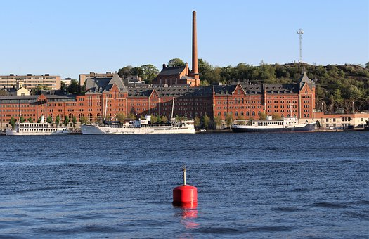 Factory, Water, Industrial, Architecture, Building, Sea