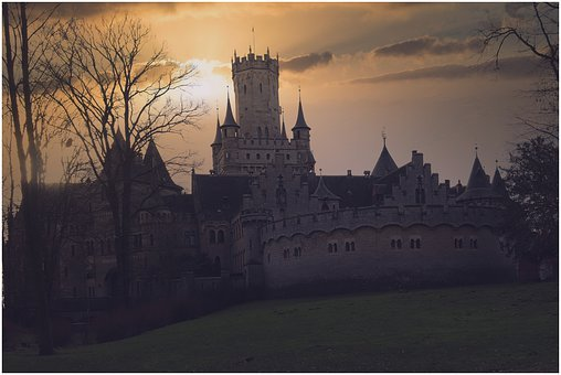 Castle, Architecture, Mystical, Building, Germany