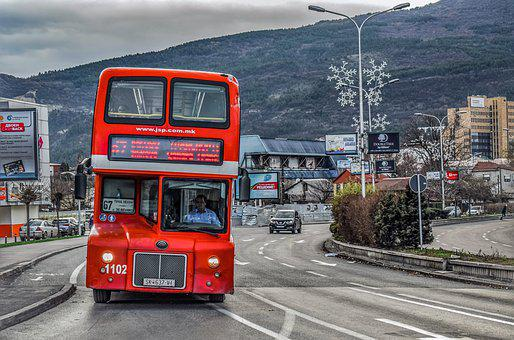 Red Bus, Street, City, Road, Traffic, Urban, Travel