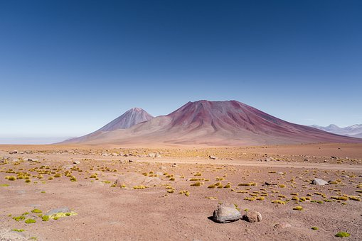 Andes, Volcano, Landscape, Nature, Mountain, Desert