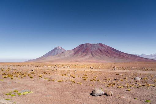 Andes, Volcano, Landscape, Nature, Mountain, Desert