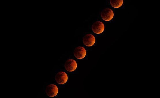 Lunar Eclipse, Moon, Night, Moonlight, Space, Eclipse