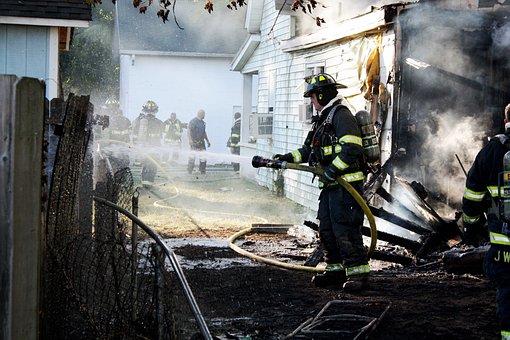 Fireman, Fire, Training, Emergency, Spray, Nozzle