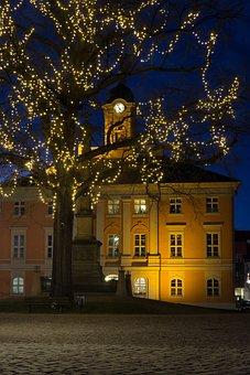 Evening, Mood, Market, Templin, Lighting, Historically